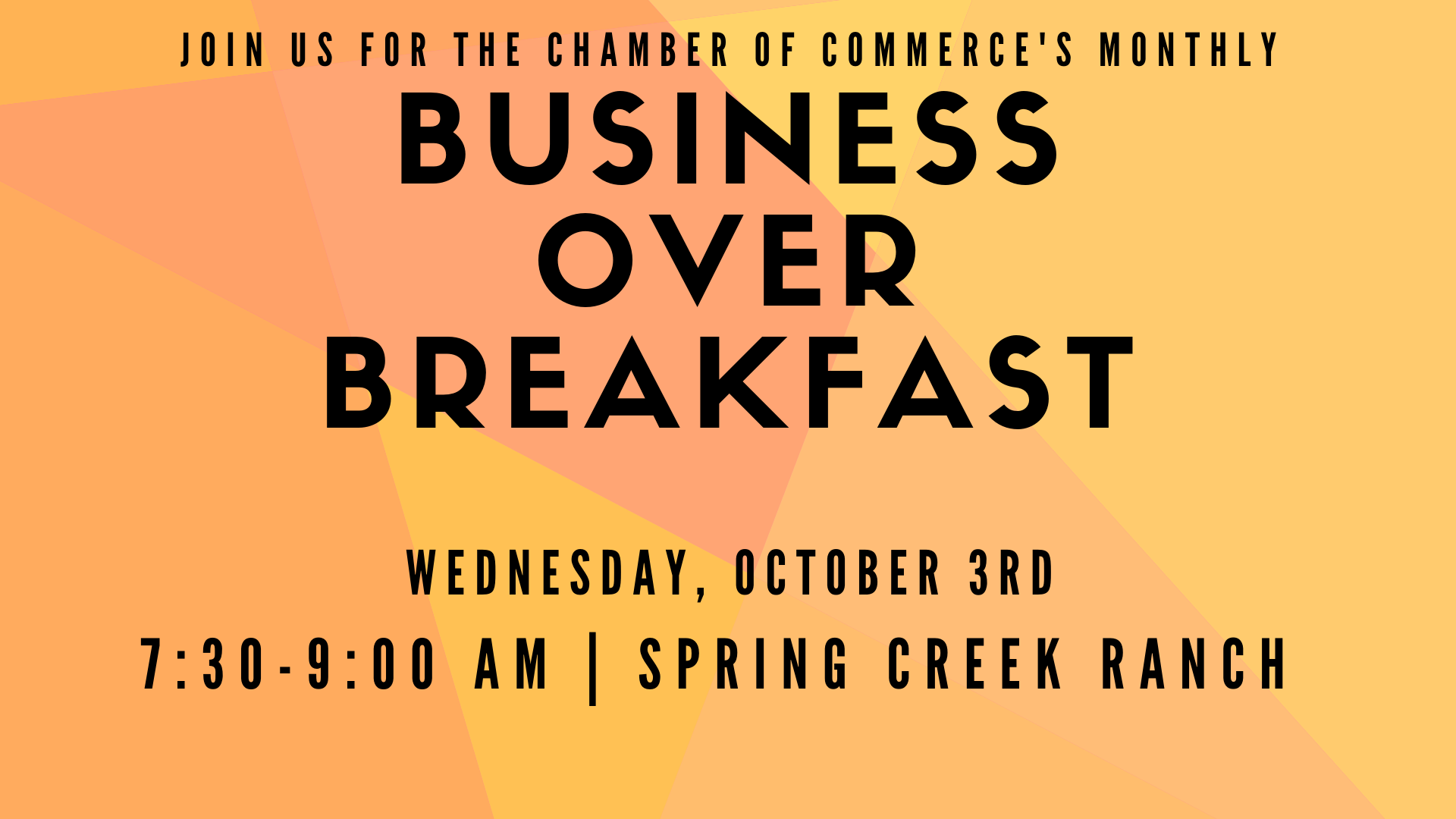 Business over Breakfast (BOB) Monthly Gathering - State Candidate Forum @ Spring Creek Ranch | Jackson | Wyoming | United States